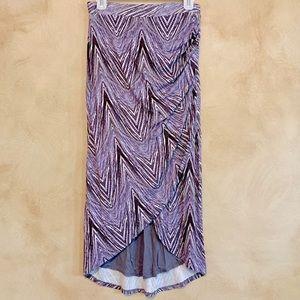 Anthropology Maeve Purple Geo Zig Zag Skirt
